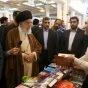 قائد الثورة الاسلامية يزور معرض طهران الدولي للكتاب